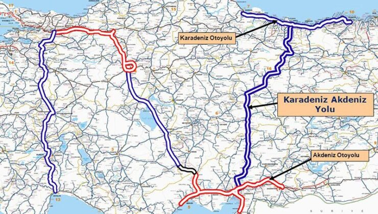 Karadeniz ile Akdeniz birbirine bağlanacak