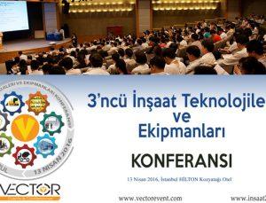 3. İnşaat Teknolojileri ve Ekipmanları Konferansı 13 Nisan'da