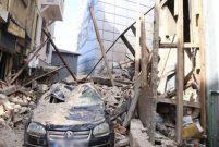 Beyoğlu'nda 100 yıllık bina çöktü