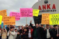 Fikirtepe'de hak sahipleri eylem yaptı