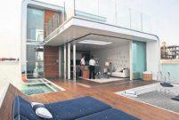 Dubai'nin yüzen villalarında inşaat başladı