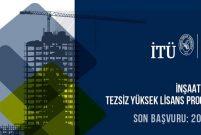 İTÜ'den İnşaat Yönetimi Tezsiz Yüksek Lisans Programı