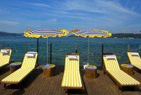 Tarabya plajı deniz sezonunu açtı