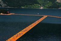 Iseo Gölü'nün 3 km.lik yüzen yolu turist akınına uğradı