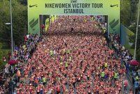 Üç bin kadın spor oldu, Bağdat Caddesi'ne aktı