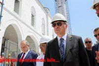 Recep Tayyip Erdoğan Osmanlı Camisi'ni ziyarete gitti