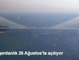 Yavuz Sultan Selim Köprüsü'ne günlük 25 bin ton asfalt seriliyor