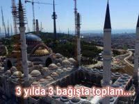 Emlak Konut GYO'dan Çamlıca Camisi'ne 30 milyon liralık bağış