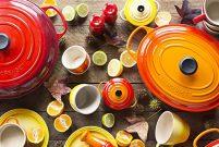 Birbirinden renkli peşirme gereçleri Le Creuset'te