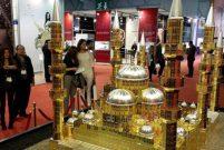 Çamlıca Cami'nin 233 kilo altından maketini yaptılar
