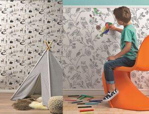 HannaHome'dan boyanabilir fosforlu duvar kağıtları