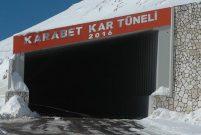 Çığa karşı Van'da prefabrik Karabet Kar Tüneli yapıldı