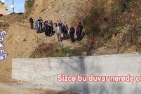 Komşusuna kızan Rizeli, yolu Laz Duvarı'yla kapattı
