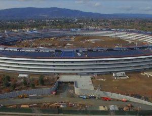 Apple'ın yeni tapınağı Campus 2'nin büyük kısmı tamamlandı