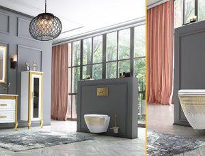 Creavit Karen klozetleri banyolara altın naifliği katıyor