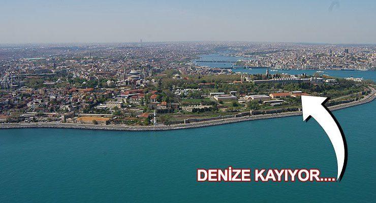 Topkapı Sarayı Marmara Denizi'ne doğru hareketlendi