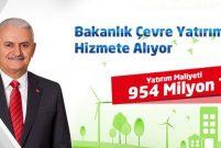 954 milyon TL'lik çevre yatırımları yarın hizmete giriyor