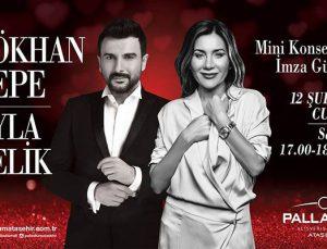 Ayla Çelik ve Gökhan Tepe Palladium Ataşehir AVM'de