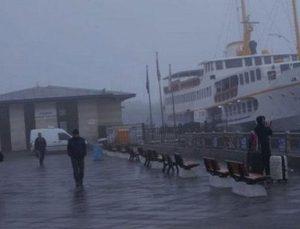 İstanbul'da tüm vapur seferleri iptal oldu