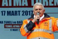 Başbakan Yıldırım Yeni Zigana Tüneli'nin temeli attı