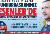 Cumhurbaşkanı Esenler'de 470 milyon TL'lik yatırımları açacak