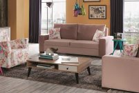 İder'le oturma odaları pudra pembe