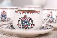 Karaca'dan keyifli kahveler için Nakkaş Fincan Seti