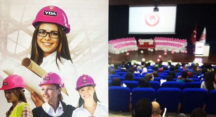 YDA, Kadınlar Günü'nde 10 bin pembe baret dağıttı