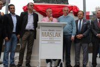 Maslak 1453'teki Atatürk heykelinin açılışı yapıldı