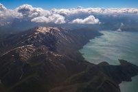 Van Gölü'nün büyüleyici güzelliği havadan görüntülendi
