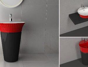 Banyolarda kırmızı siyah etkisi