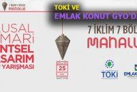 Ulusal Mimari Kentsel Tasarım Fikir Yarışması düzenleniyor