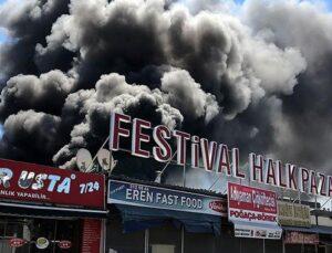 Antalya Festival Çarşısı'nda yangın çıktı!
