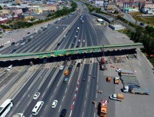 Çamlıca gişelerde 4 şerit trafiğe kapatıldı