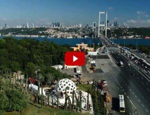 İstanbul'daki 15 Temmuz Şehitler Anıtı'nın hava çekimleri