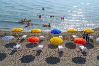 Van Edremit Gölü kıyısındaki halk plajı hizmete girdi