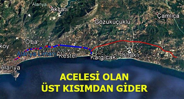 Alanya ile Gazipaşa arasına 32 km.lik yol yapılıyor