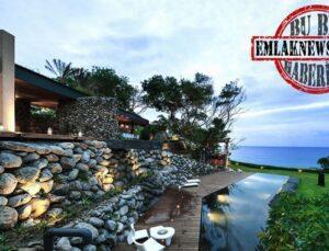 Pasifik Okyanusu kıyısında kayalardan tasarlanmış muhteşem ev
