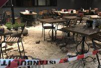 Beşiktaş'ta tarihi binanın duvarı kısmen çöktü