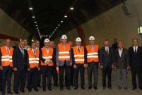Cumhurbaşkanı Erdoğan Ovit Tüneli'ndeki çalışmaları inceledi