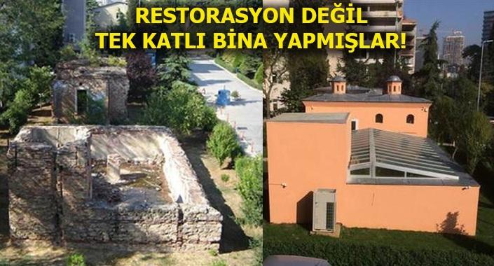 V. Murad'ın Av Köşkü hamamında restorasyon faciası