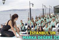 Oysho'dan Feriye Palace'ın boğaz manzarasında 130 kişiyle yoga