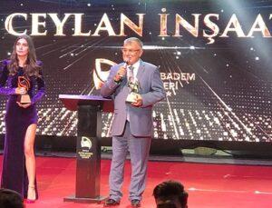 Ceylan İnşaat Yılın Kurumsal Şirketi ödülünün sahibi oldu