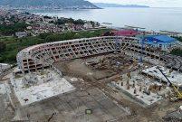 Ordu'da inşaatı devam eden yeni stadın yüzde 60'ı tamamlandı