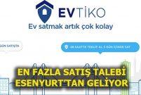 Evtiko'daki satılık evlerin dörtte biri 300 bin TL civarında
