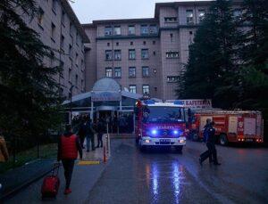 Ankara Eğitim ve Araştırma Hastanesi'nde yangın çıktı