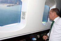 Cumhurbaşkanı Erdoğan Rize'deki projeleri havadan denetledi