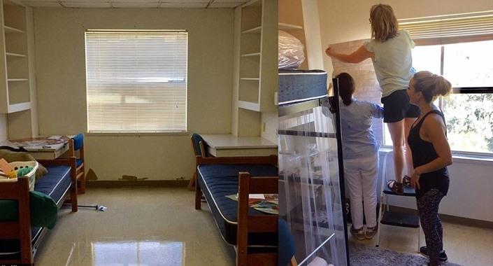 Öğrenci yurdundaki odalarını baştan yarattılar