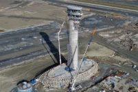 3. Havalimanı'nın lale figürlü kulesi ortaya çıkmaya başladı