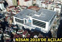 Yeni Taksim İlk Yardım Hastanesi havadan görüntülendi